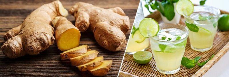 Suco de gengibre e limão para reduzir o colesterol ruim