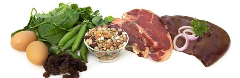 30 alimentos ricos em ferro para combater a anemia